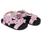 Light Pink Flower Sandals for 18 inch dolls like American Girl, Sophia's, Our Generation