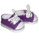 Purple Low-Rise Sneakers - shoes for 18 inch dolls.