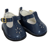 Navy T-Strap Shoes for 18 inch dolls like American Girl