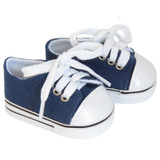 Navy Low-Rise Sneakers for AG boy or girl dolls.