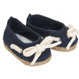 J89.  Navy Jute-Trimmed Shoes
