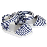 Navy and White Striped Strap Shoes for 18 inch dolls