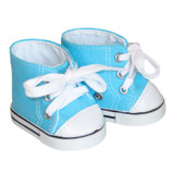 Shoes for 18 inch boy or girl dolls - Turquoise High-Top Sneakers