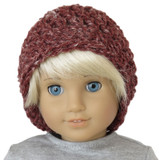 Slouch Beanie - Rustic Romantic Red Roads