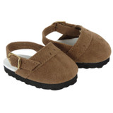 Light Brown Suede Clogs