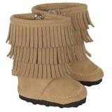 Tan Fringe Boots