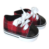 X51.   Red and Black Plaid Sneakers