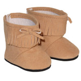 Tan Fringe Ankle Boots