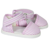 Pink and White Striped Strap Shoes