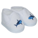 White shark shoes for American Girl or American Boy dolls.