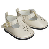 Y09.  Cream T-Strap Shoes