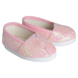 J41.  Pink Sparkle Casual Flats