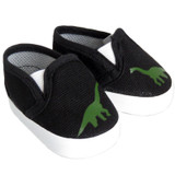 J40.  Black Dinosaur Shoes