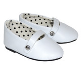 White ballet flats for 18 inch dolls.