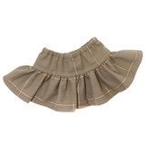 V20.  Taupe Plaid Skirt
