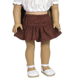 V50.  Ruffle Skirt - Gingerbread