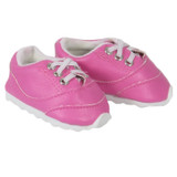 X49.  Hot Pink No-Tie Sneakers