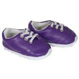 X94.  Purple No-Tie Sneakers