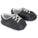X32.  Black No-Tie Sneakers