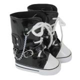 X31.  Black Knee-High Sneakers