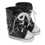 X31.  Black Knee-High Sneakers