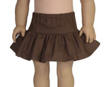 V17.  Ruffle Skirt - Chocolate Brown