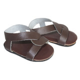 O19.  Brown Slip-On Cross Sandals
