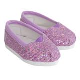 J95.  Lavender Sequin Flats