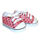 X40.  Pink Sequin Sneakers