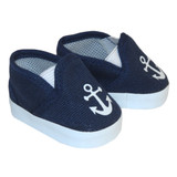 J87.  Navy Anchor Shoes