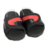 O39.  Black and Red Slide Sandals