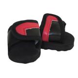 O39.  Black and Red Slide Sandals