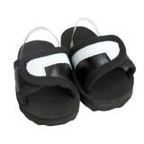 O37.  Black and White Slides Sandals