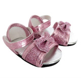 O42.  Pink Glitter Bow Sandals