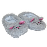 U10.  Gray Mouse Slippers