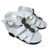 O02.  White Stud Sandals
