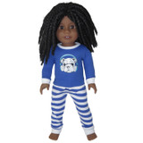 18 inch boy doll pajamas with dog print.