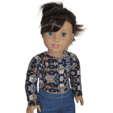 18 inch doll clothes for AG dolls.  Tribal print crop top for American Girl dolls.