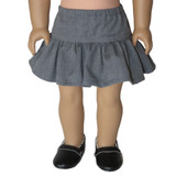 18 inch American Girl doll clothes - grey skirt.