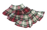 V54.  Red and Green Christmas Plaid Ruffle Skirt.