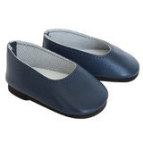 Navy flats, shoes for 18 inch American Girl dolls.