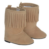 K11.  Tan Boots with Single Fringe