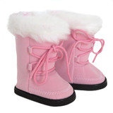 Pink boots for 18 inch American Girl dolls.