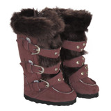 K69.  Above-Knee Chianti Boots