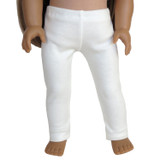 Warm white leggings for 18 inch American Girl dolls.