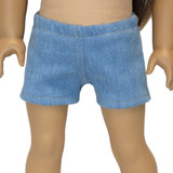 Denim shorts for 18 inch dolls like American Girl and Our Generation.