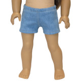 Denim shorts.  Fit 18 inch dolls.