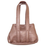 Fits 18 inch American Girl doll Includes: purse Rose gold purse with Velcro dot closure.