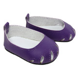 Fits: 18 inch dolls like American Girl doll  Includes: shoes  Matte purple cut-out flats.