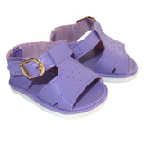 Fits: 18 inch American Girl doll  Includes: shoes  Matte light purple sandals with functional buckle straps.